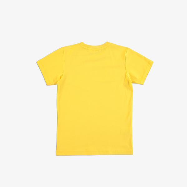 Lacoste Çocuk Bisiklet Yaka Baskılı Sarı T-Shirt