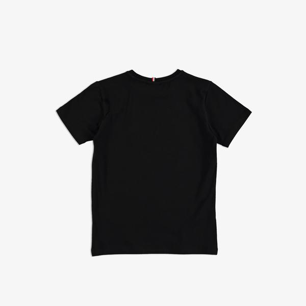 Lacoste Çocuk Bisiklet Yaka Baskılı Siyah T-Shirt