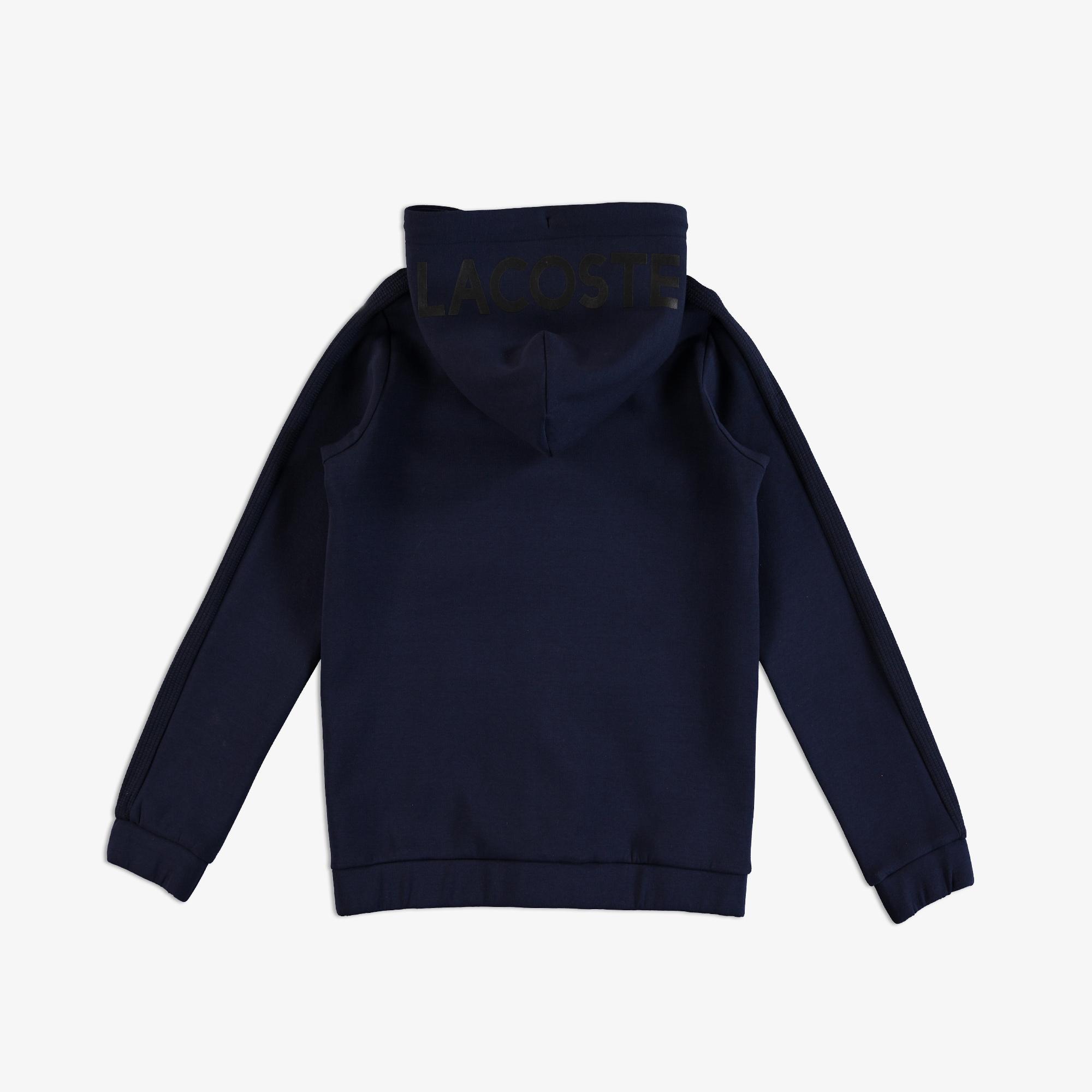 Lacoste Çocuk Fermuarlı Kapüşonlu Lacivert Sweatshirt