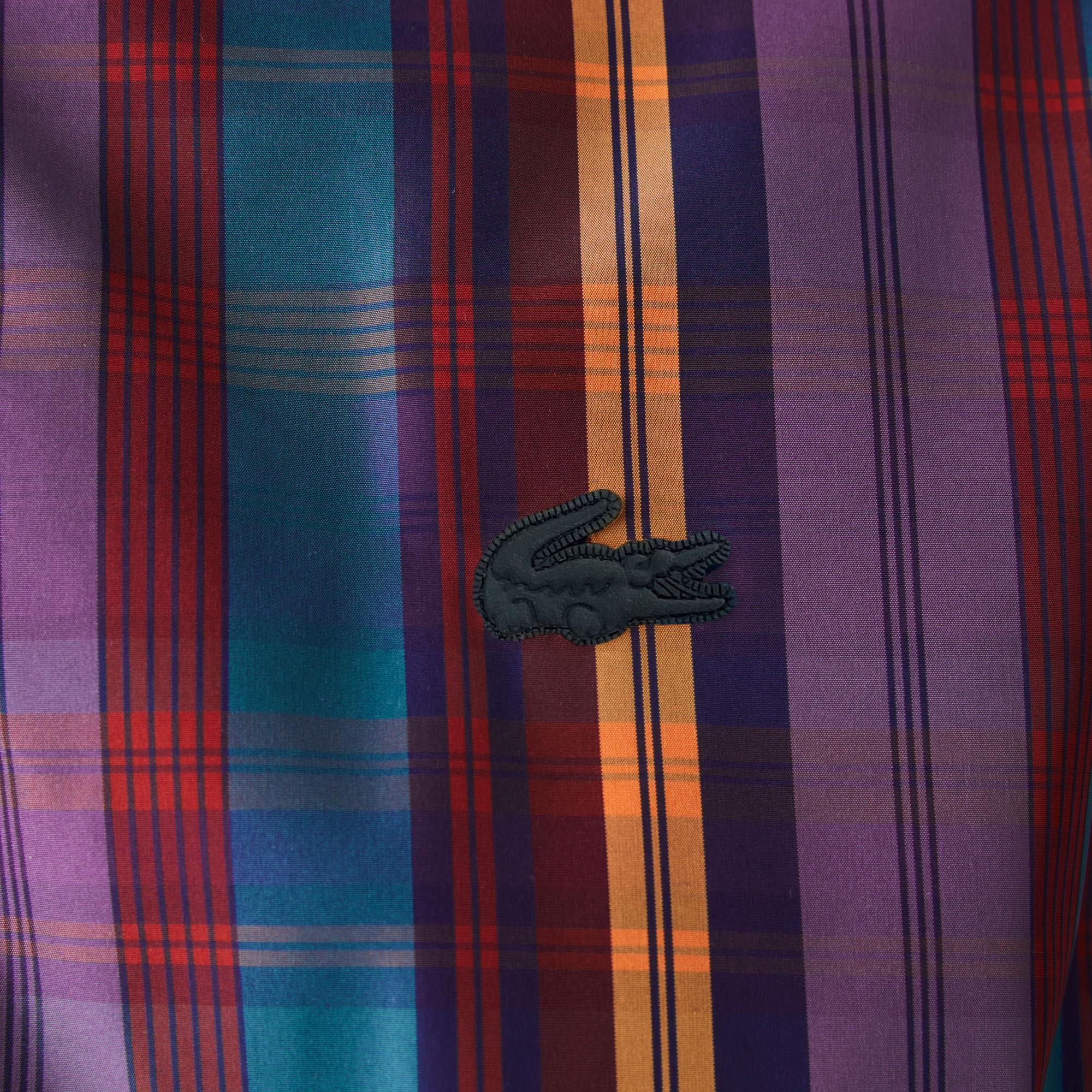 Lacoste L!ve Unisex Kapüşonlu Desenli Renkli Mont