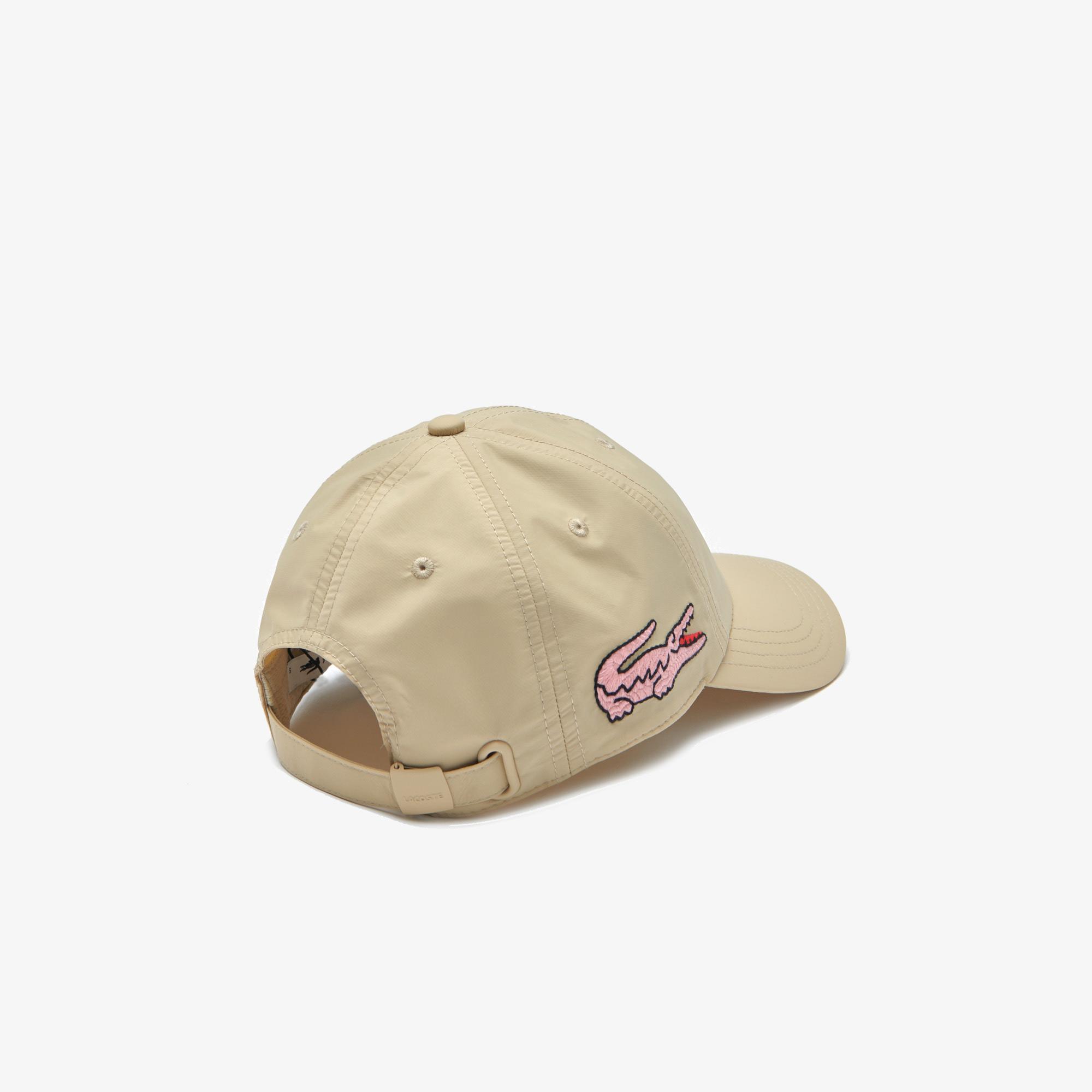 Lacoste Kadın Baskılı Bej Şapka