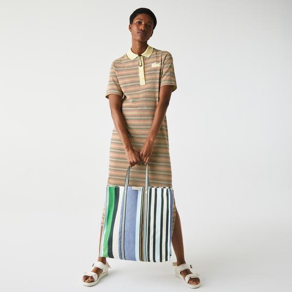 Lacoste Kadın Çizgili Renkli Çanta