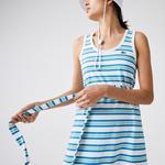 Lacoste Kadın Kolsuz Bisiklet Yaka Çizgili Renkli Elbise