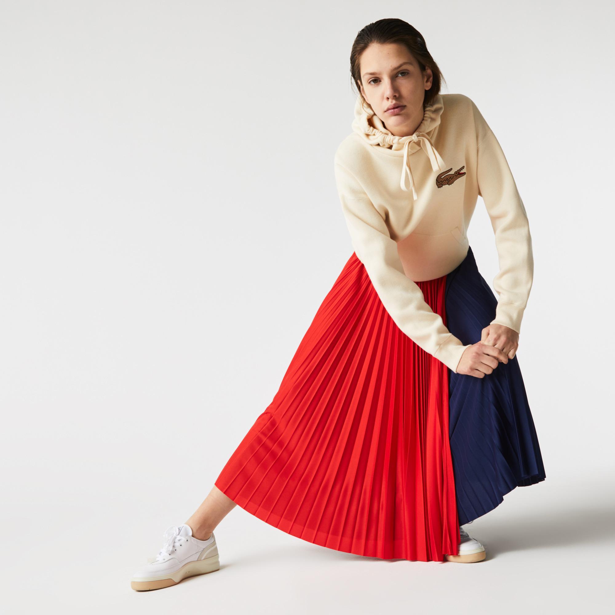 Lacoste Kadın Renk Bloklu Lacivert - Kırmızı Etek