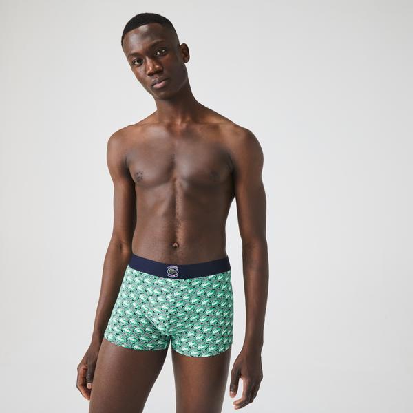 Lacoste Erkek Baskılı Renkli Boxer