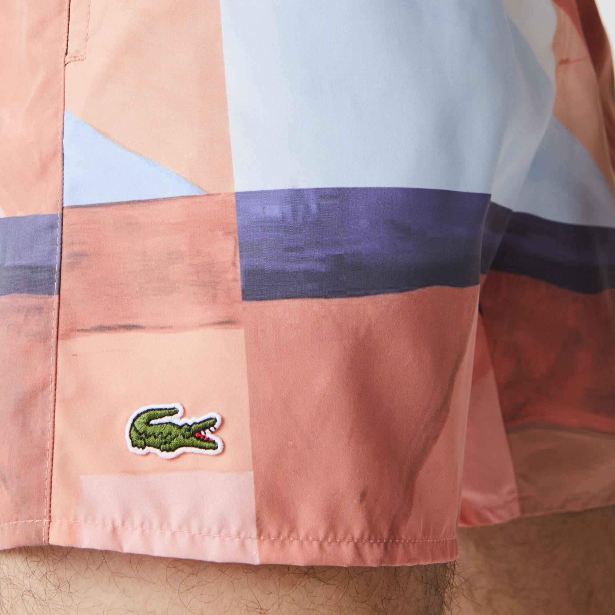 Lacoste Erkek Baskılı Renkli Şort Mayo