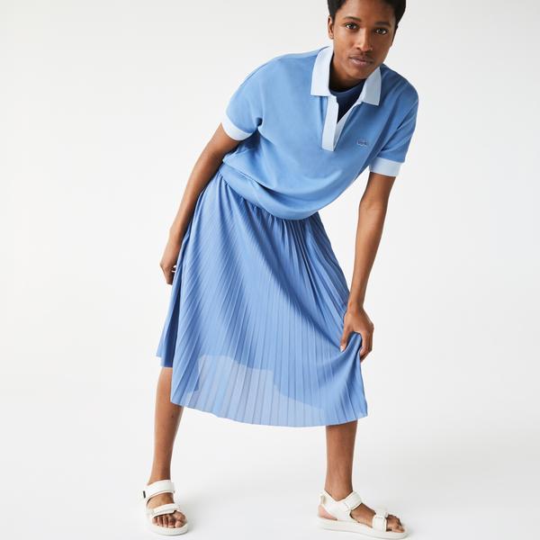 Lacoste Kadın Loose Fit Mavi Polo