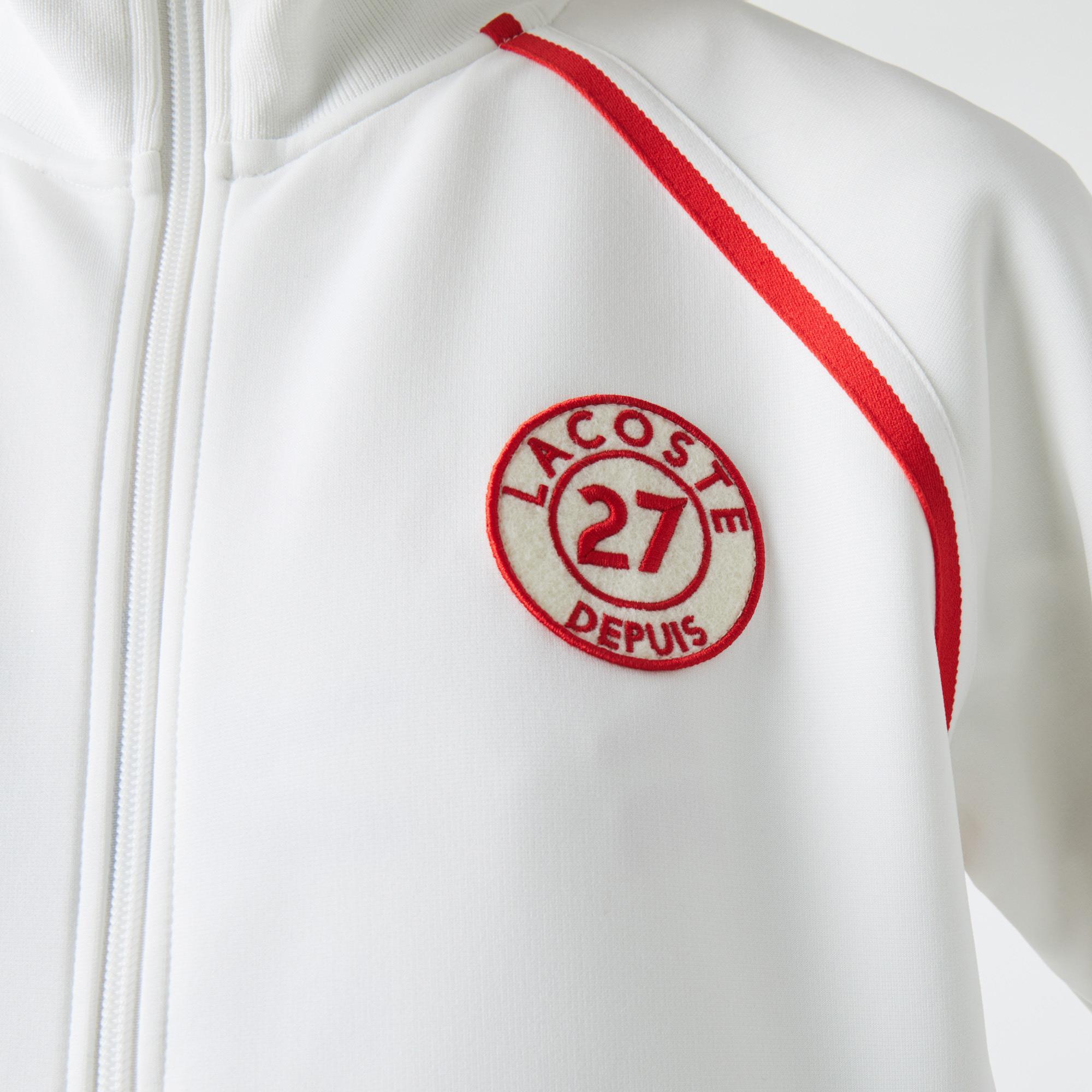 Lacoste Kadın Fermuarlı Beyaz Sweatshirt
