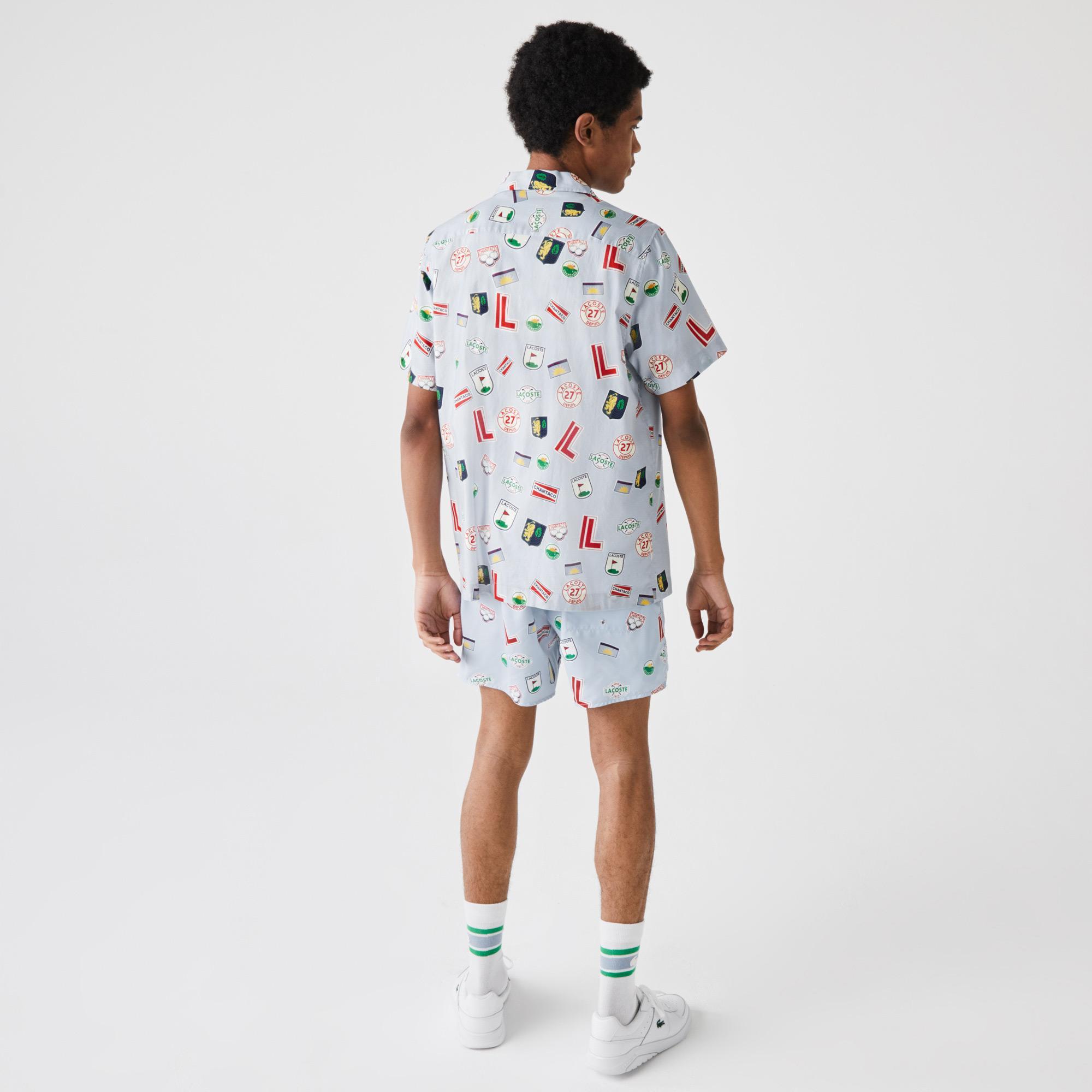 Lacoste Erkek Kısa Kollu Baskılı Renkli Gömlek