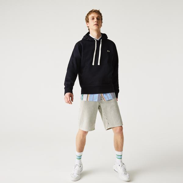 Lacoste Unisex Classic Fit Kapüşonlu Lacivert Sweatshirt