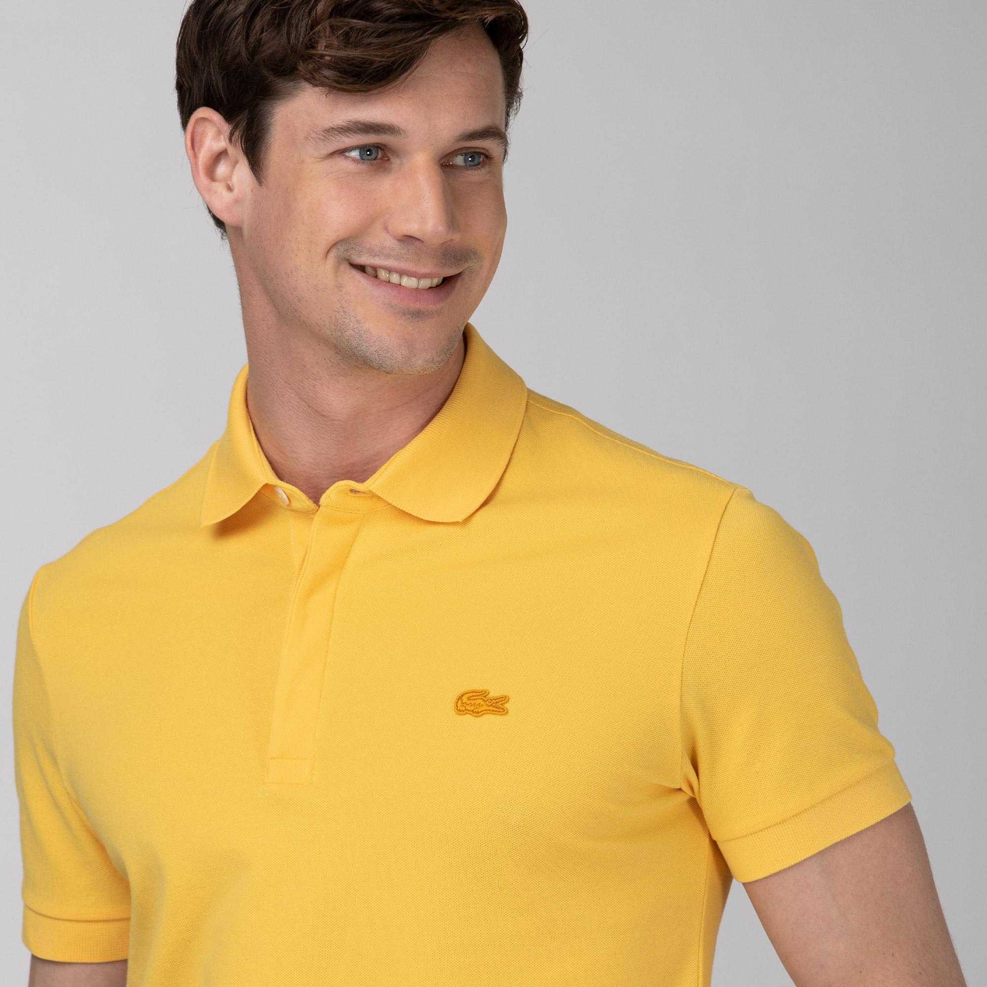 Lacoste Erkek Regular Fit Sarı Paris Polo