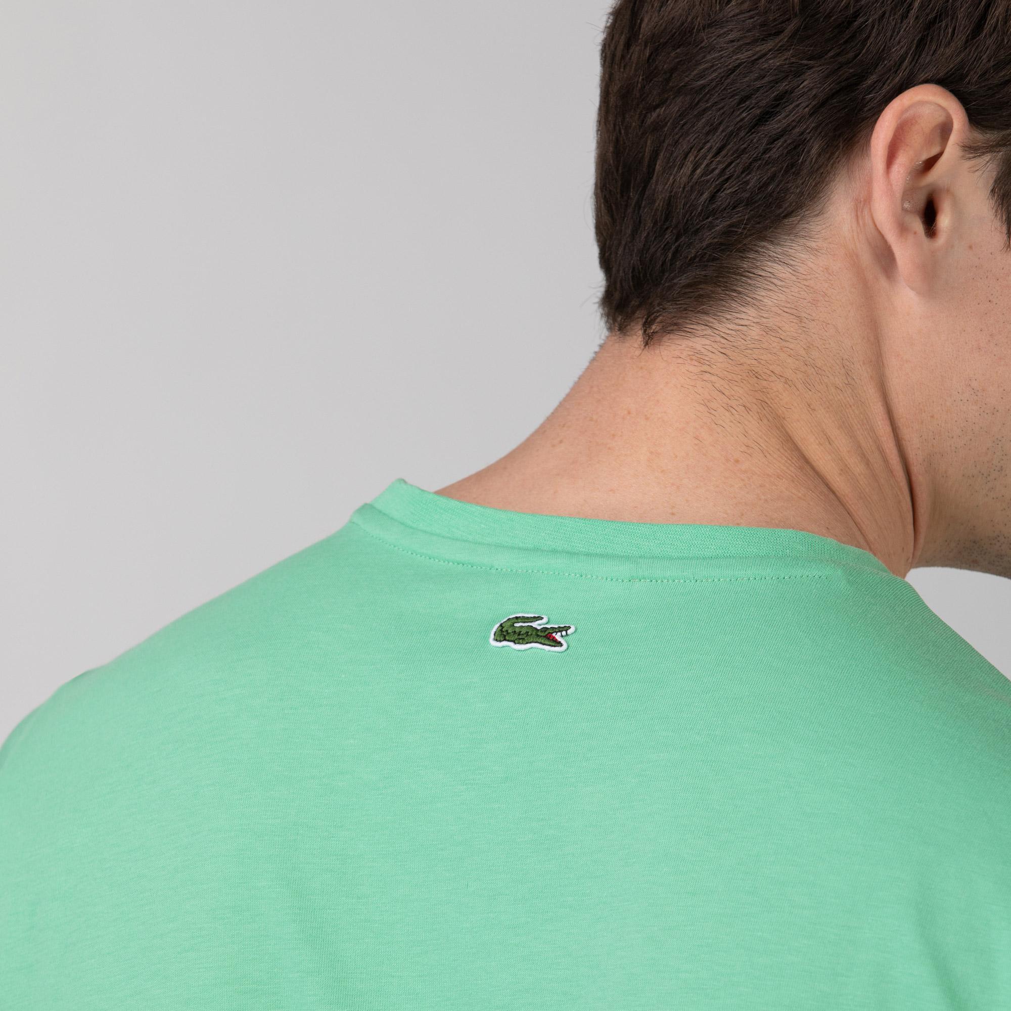 Lacoste Erkek Regular Fit Bisiklet Yaka Baskılı Yeşil T-Shirt