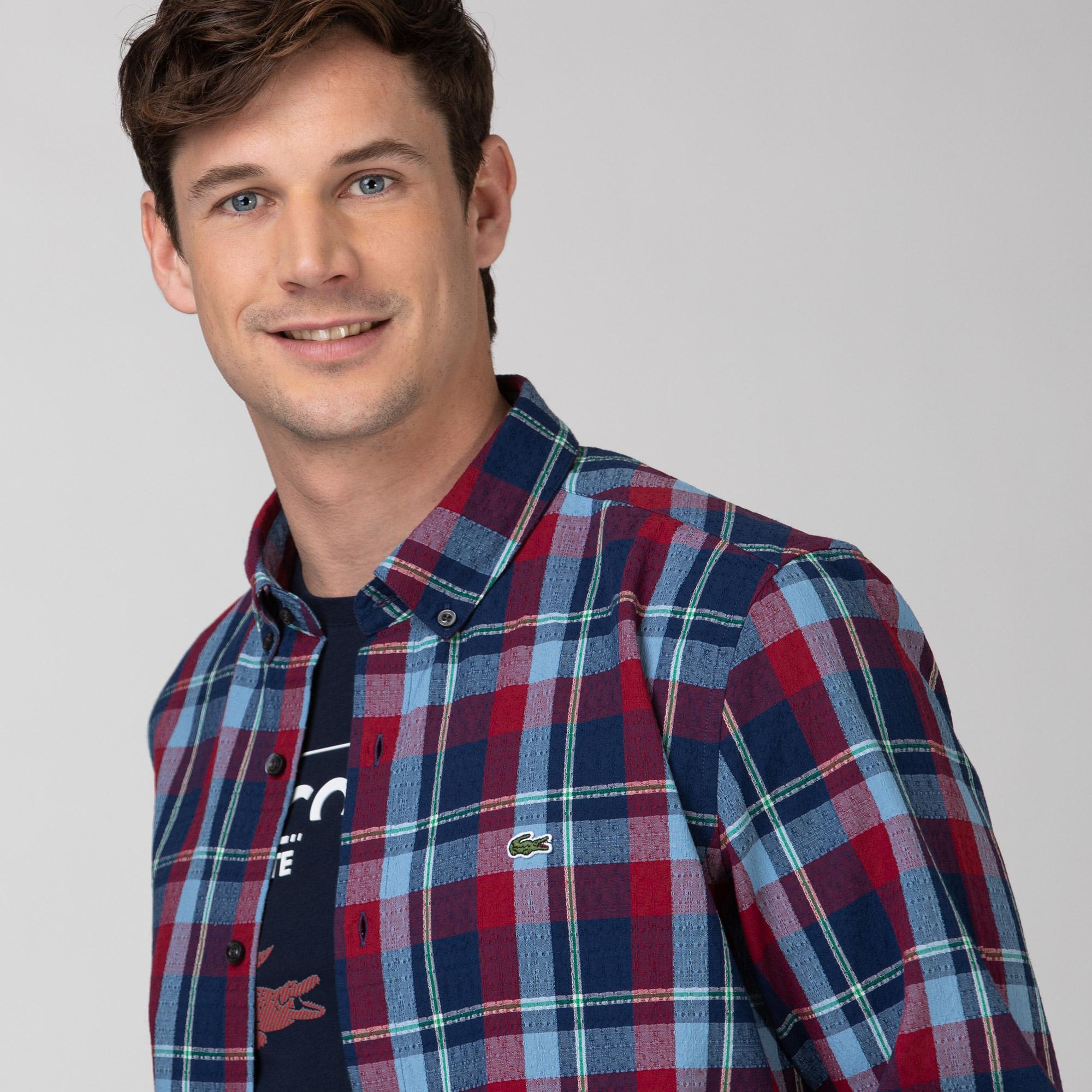 Lacoste Erkek Regular Fit Ekose Desenli Renkli Gömlek