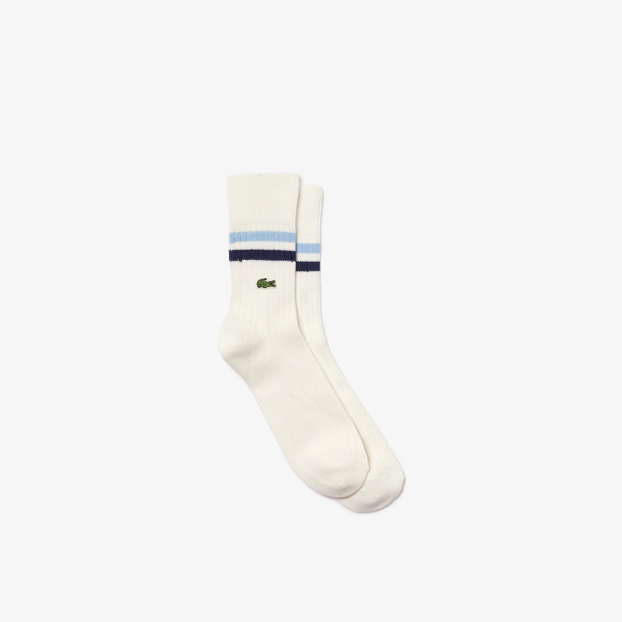 Lacoste Unisex Uzun Beyaz Çorap