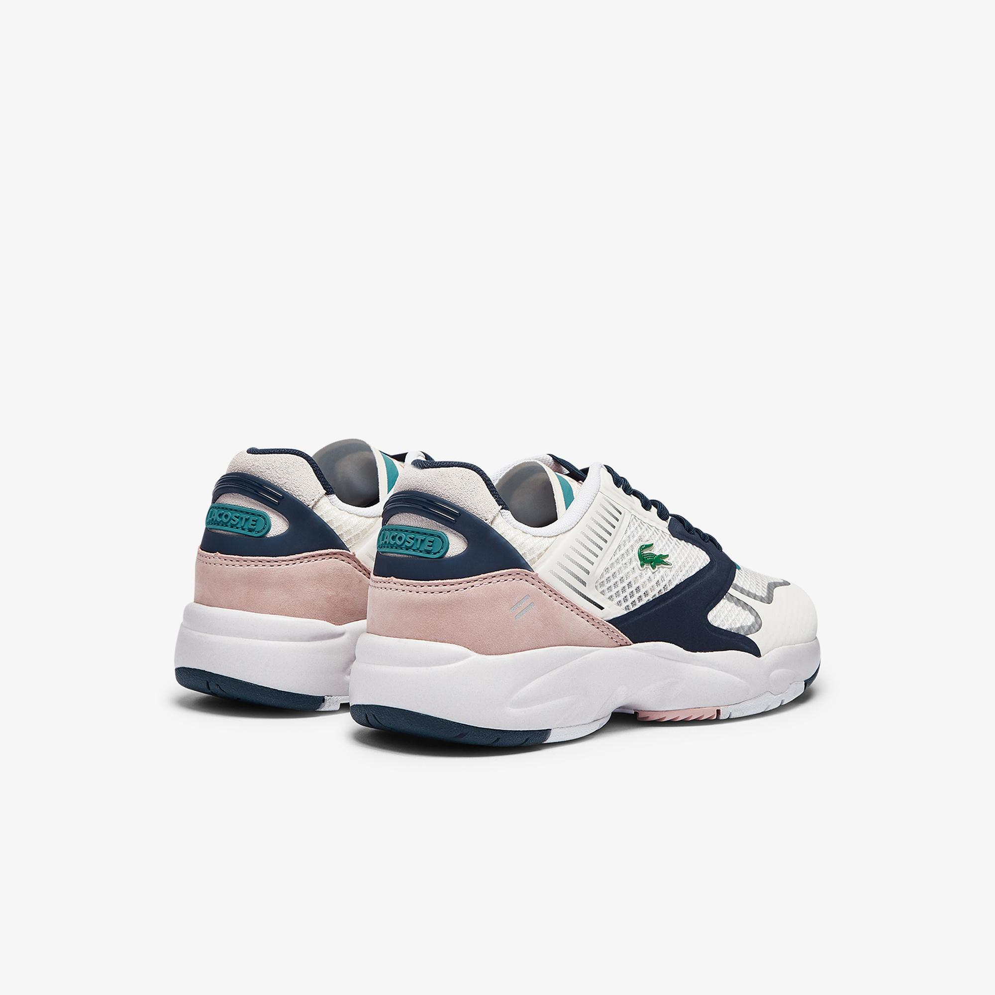 Lacoste Storm 96 Nano 09211Sfa Kadın Beyaz - Lacivert Sneaker