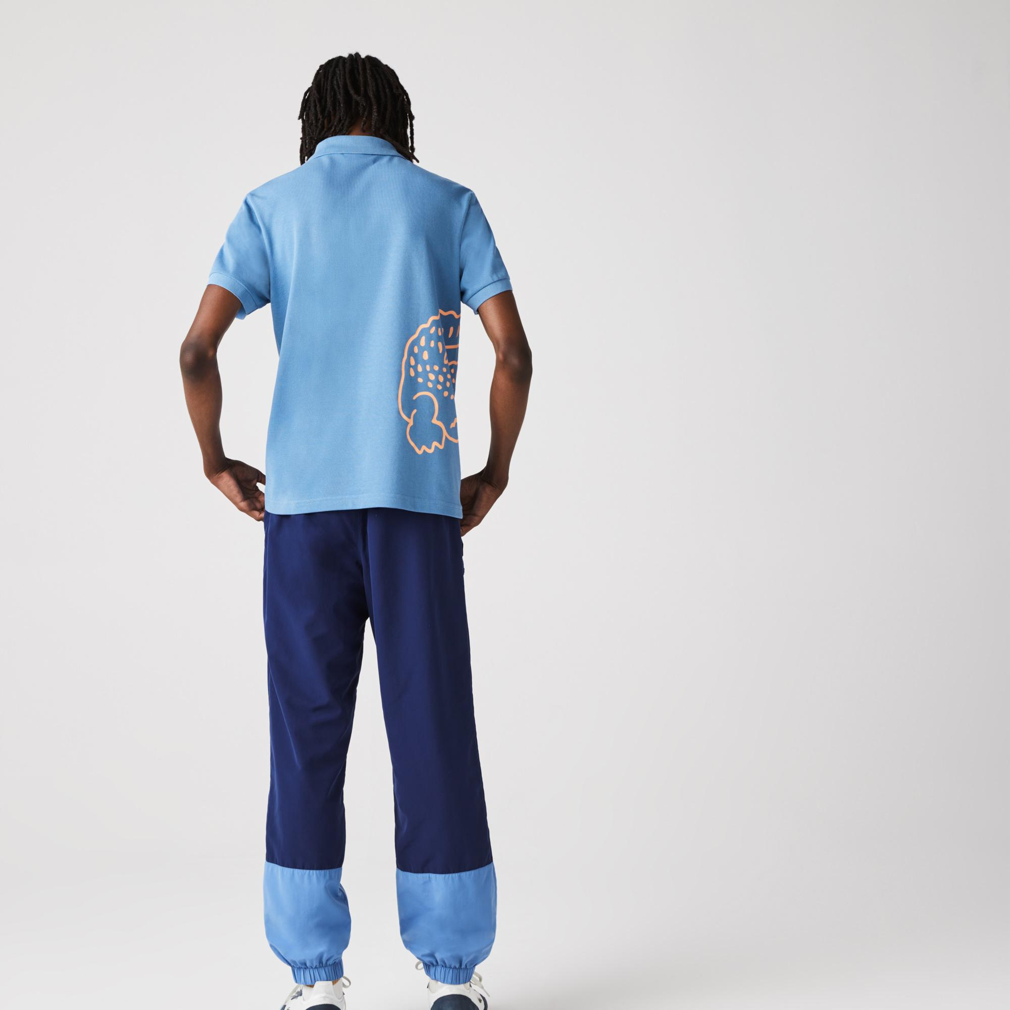 Lacoste Erkek Regular Fit Baskılı Mavi Polo