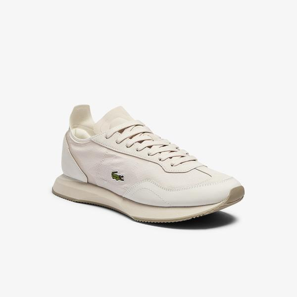 Lacoste Match Break 0721 2 Sma Erkek Bej Sneaker