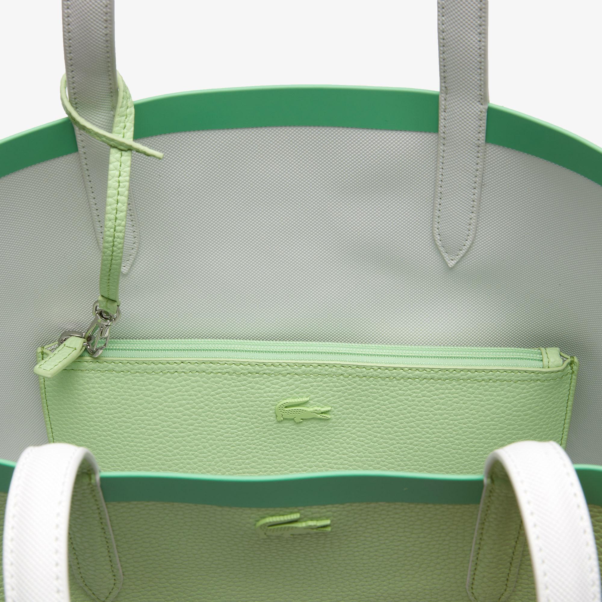 Lacoste Anna Kadın Yeşil - Bej Çift Taraflı Çanta