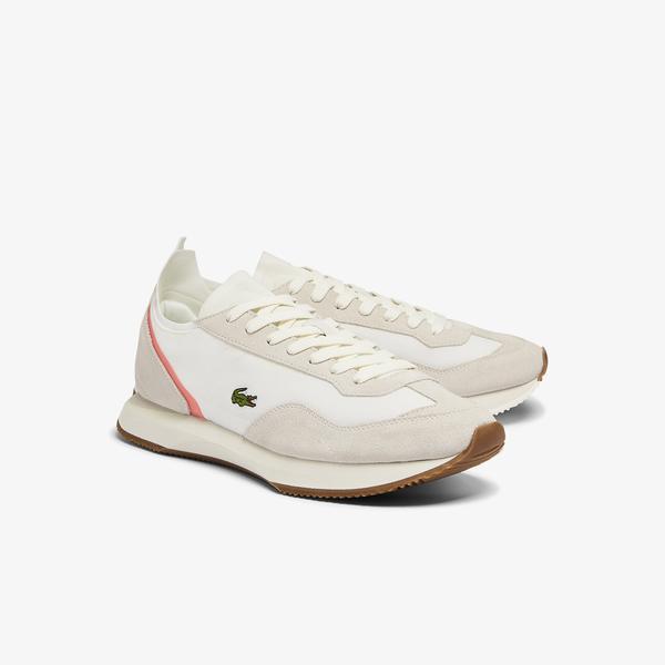 Lacoste Match Break 0721 1 Sma Erkek Bej - Pembe Sneaker