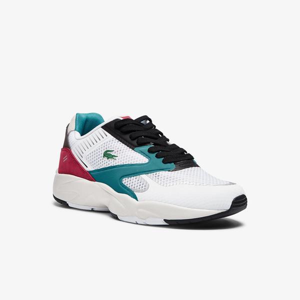 Lacoste Storm 96 Nano09211 Sma Erkek Beyaz - Turkuaz Sneaker