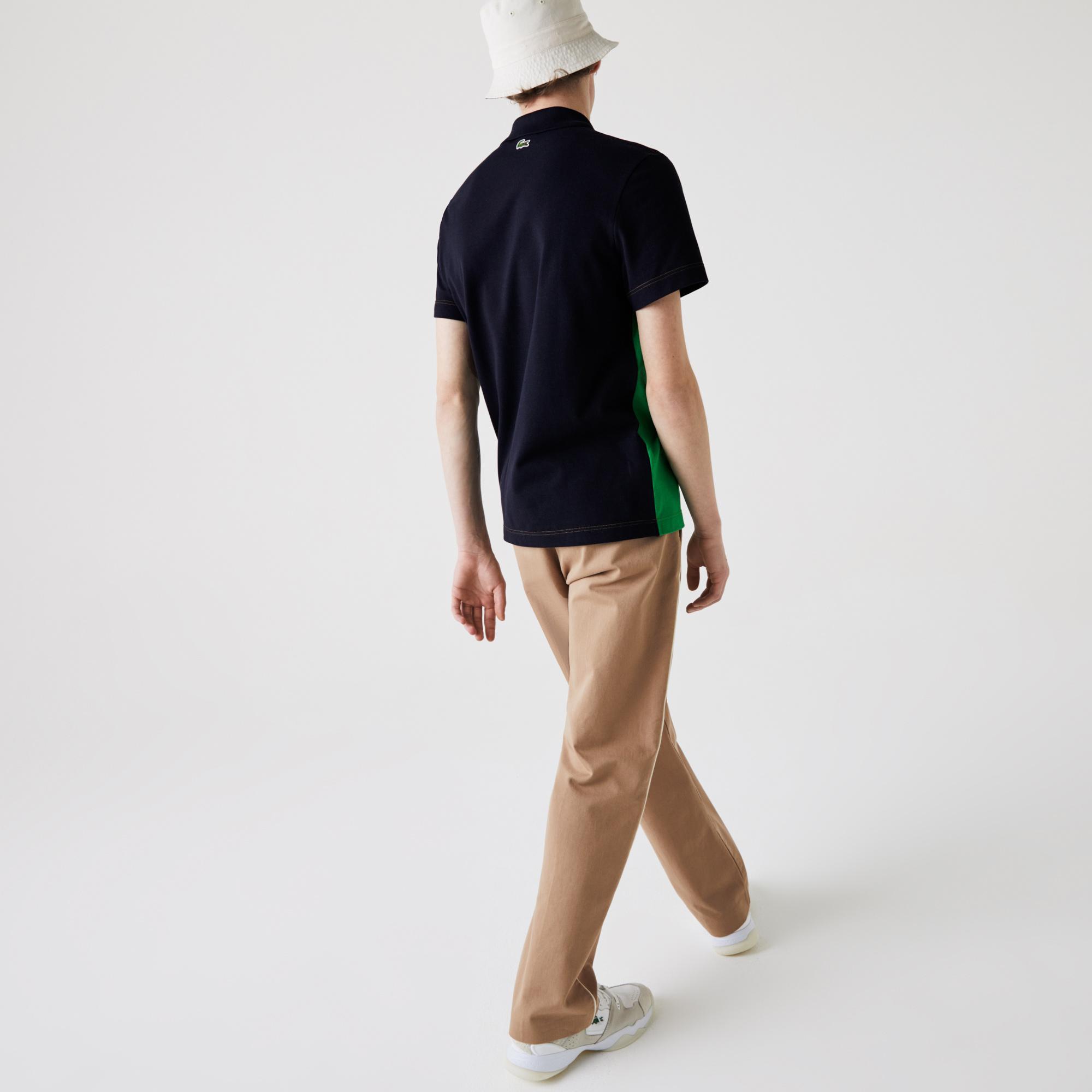 Lacoste Erkek Regular Fit Renk Bloklu Baskılı Renkli Polo