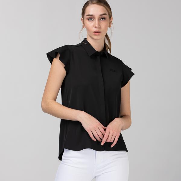 Lacoste Kadın Kolsuz Siyah Gömlek