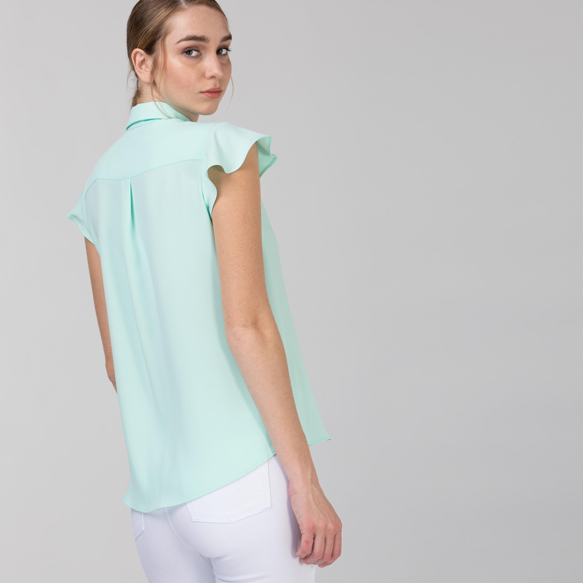 Lacoste Kadın Kolsuz Açık Yeşil Gömlek