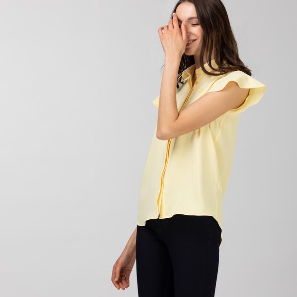 Lacoste Kadın Kolsuz Sarı Gömlek