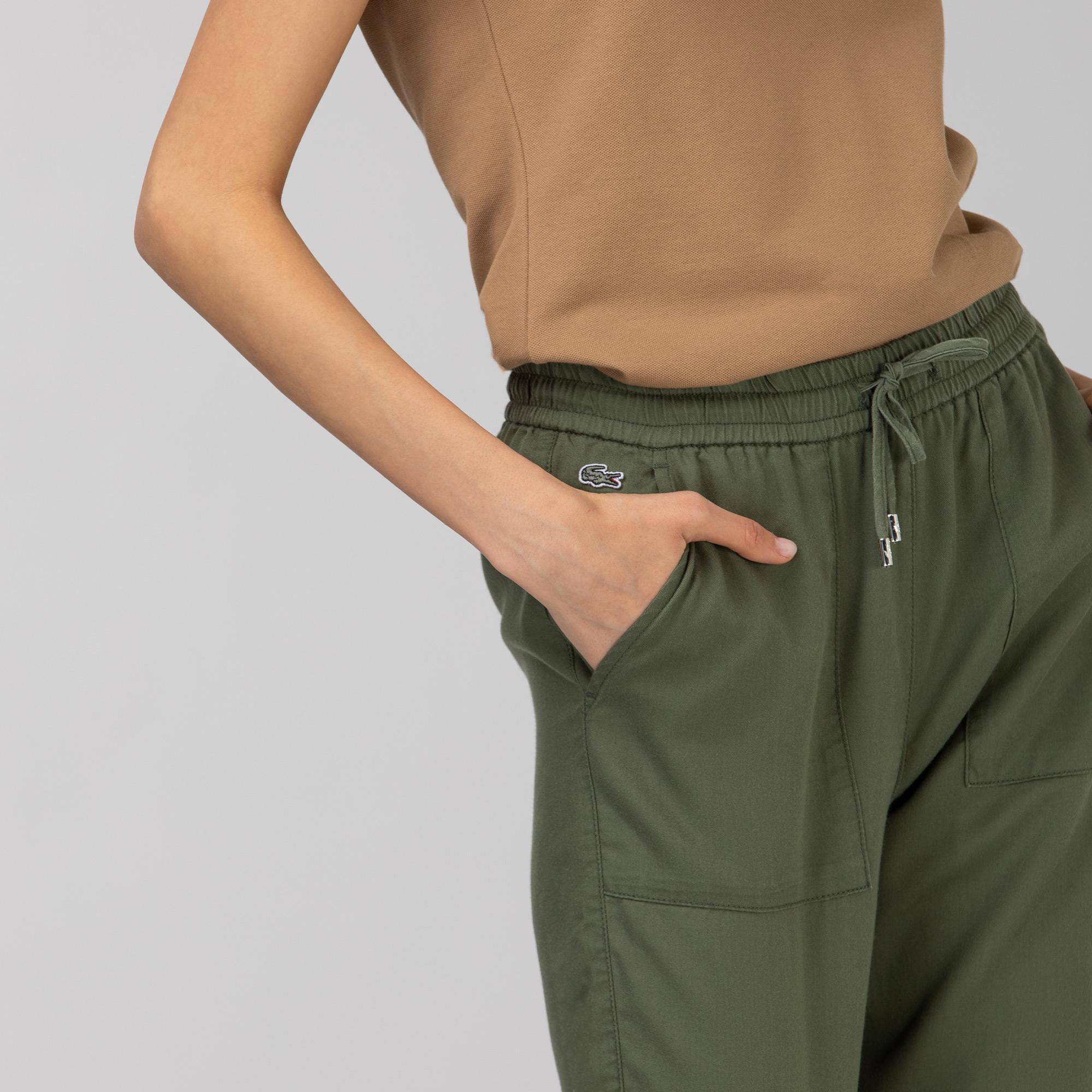 Lacoste Kadın Haki Jogger Pantolon