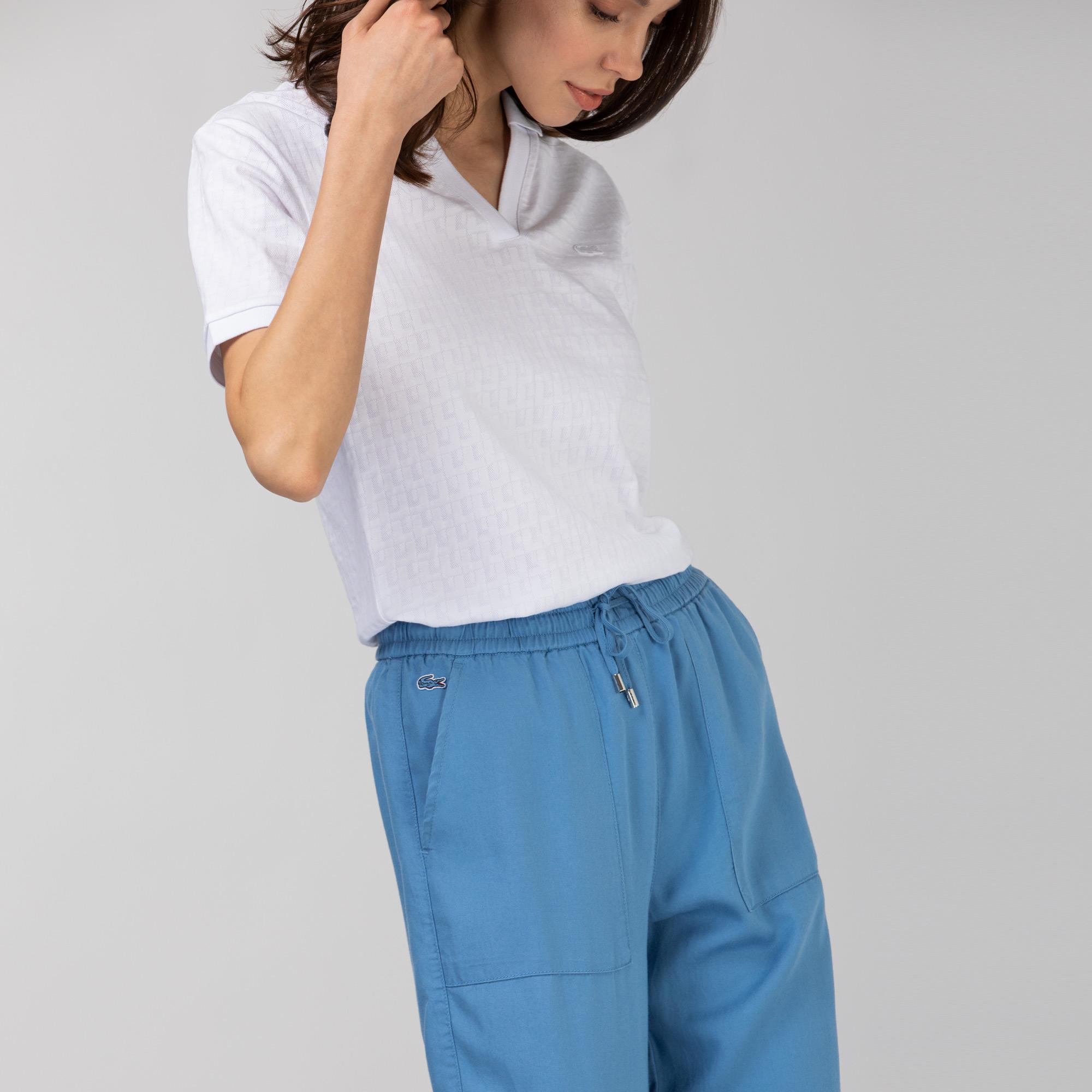 Lacoste Kadın Mavi Jogger Pantolon