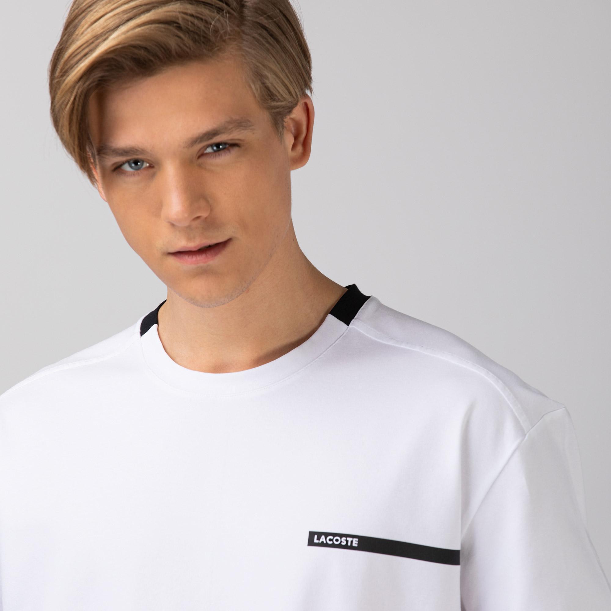 Lacoste Erkek Rahat Fit Bisiklet Yaka Beyaz T-Shirt