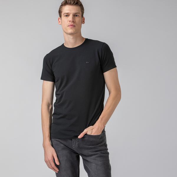 Lacoste Erkek Slim Fit Bisiklet Yaka Siyah T-Shirt