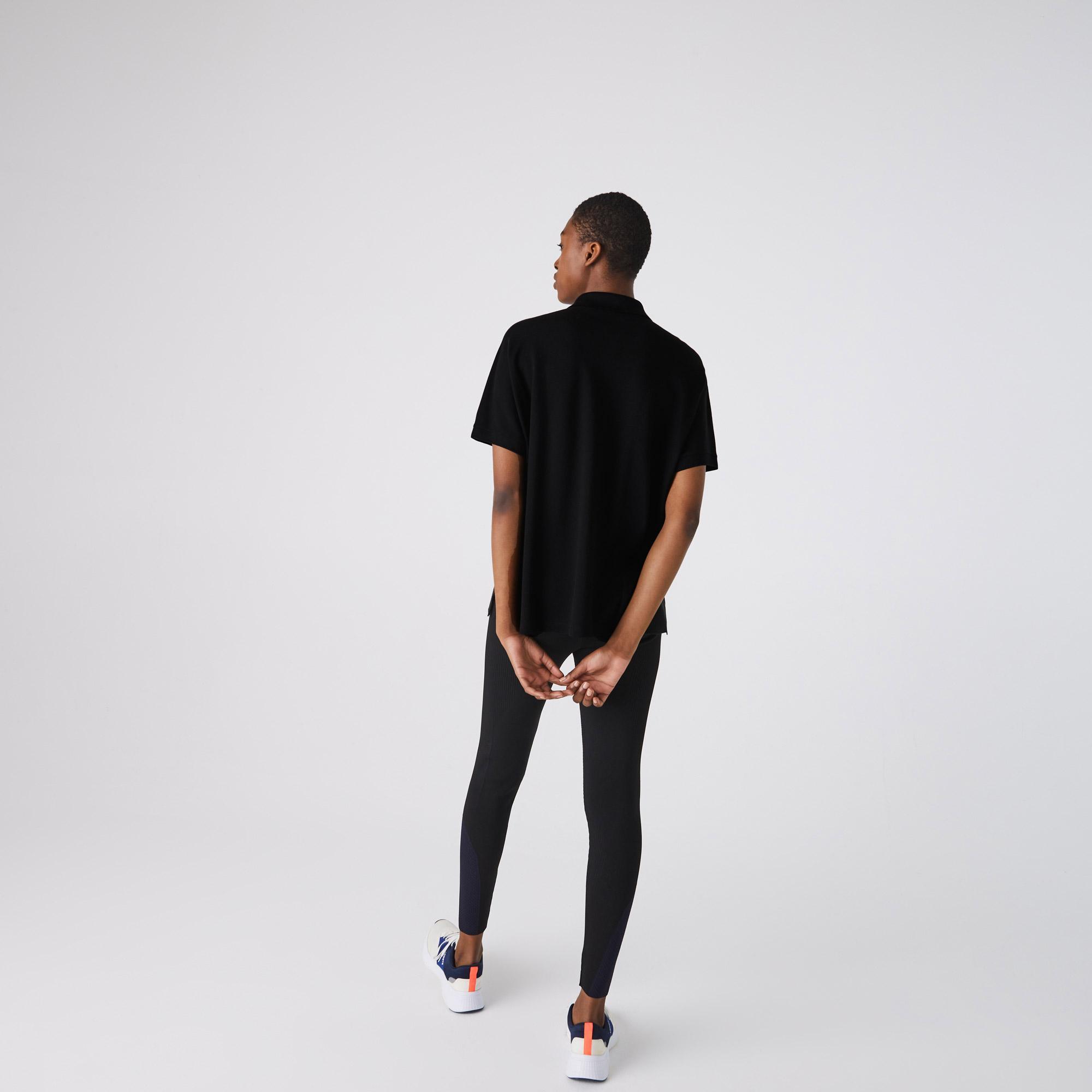 Lacoste Kadın Loose Fit Siyah Polo