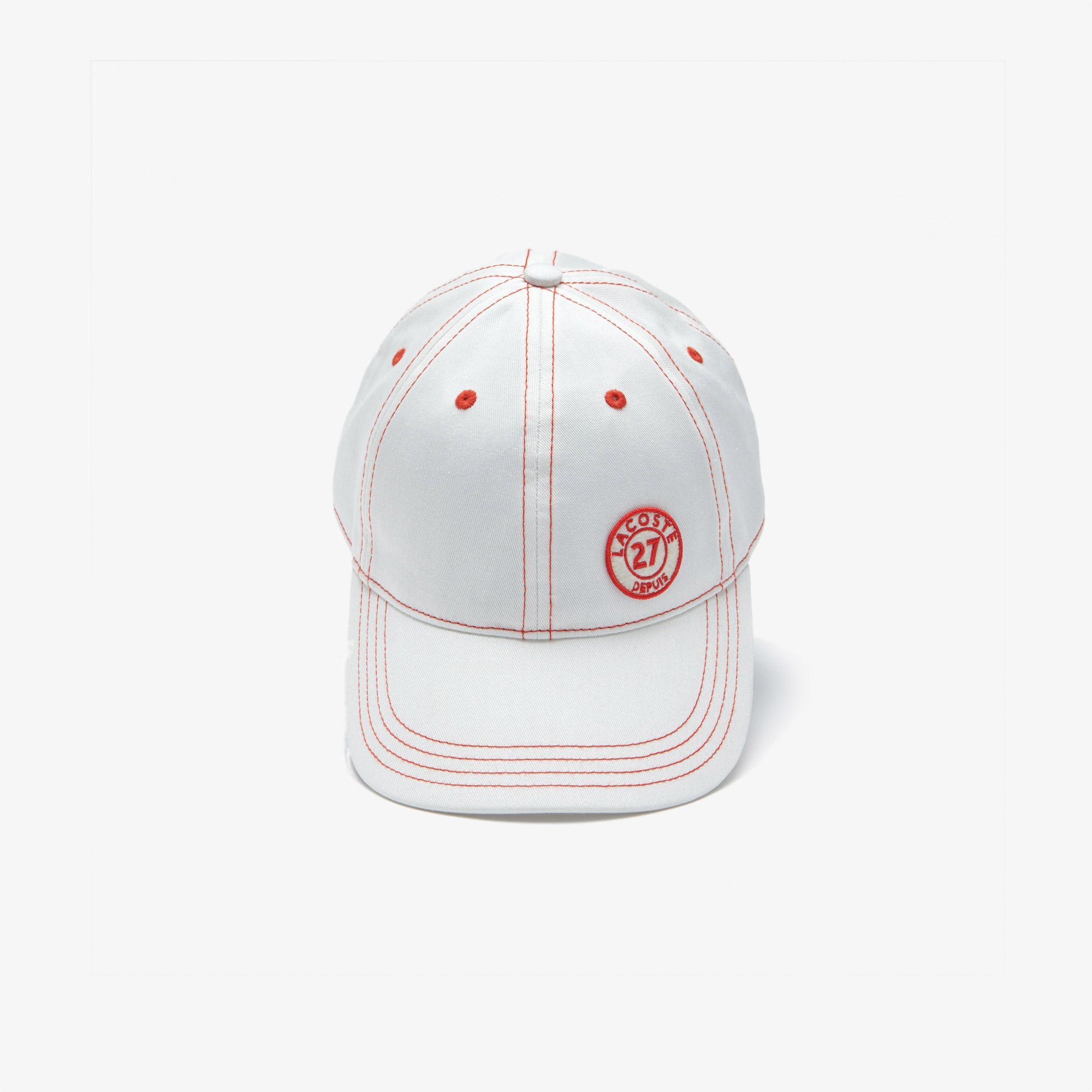 Lacoste Kadın Baskılı Beyaz Şapka