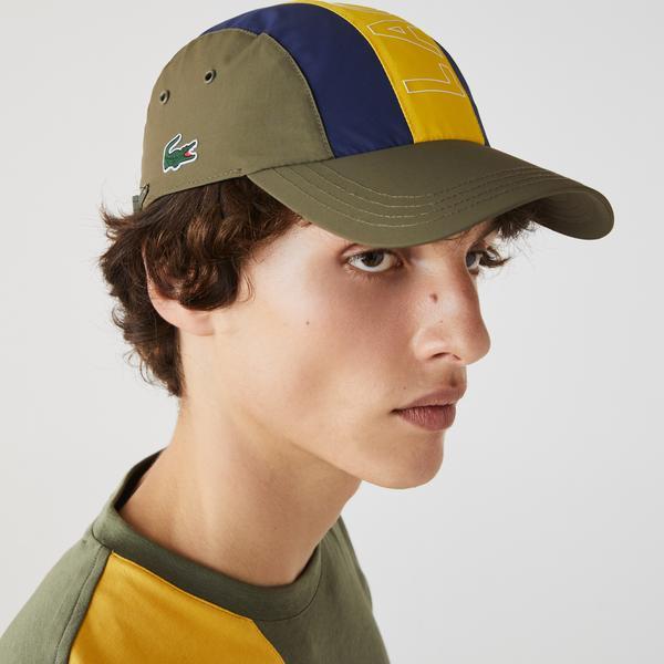Lacoste Erkek Renk Bloklu Baskılı Renkli Şapka