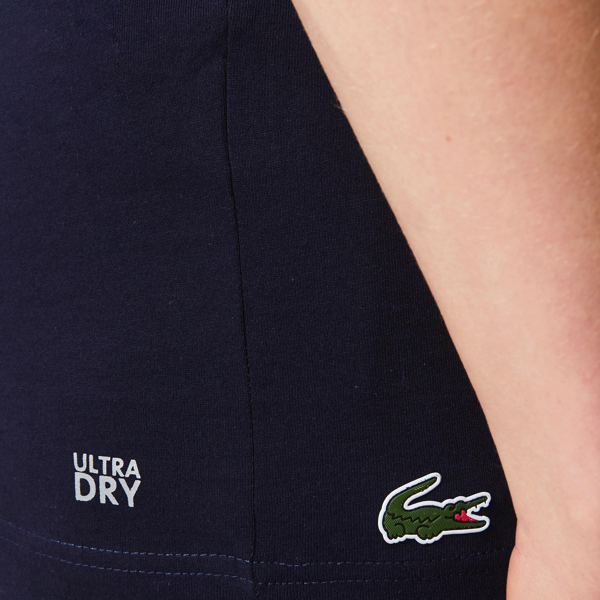 Lacoste Sport Novak Djokovic Erkek Bisiklet Yaka Baskılı Lacivert T-Shirt