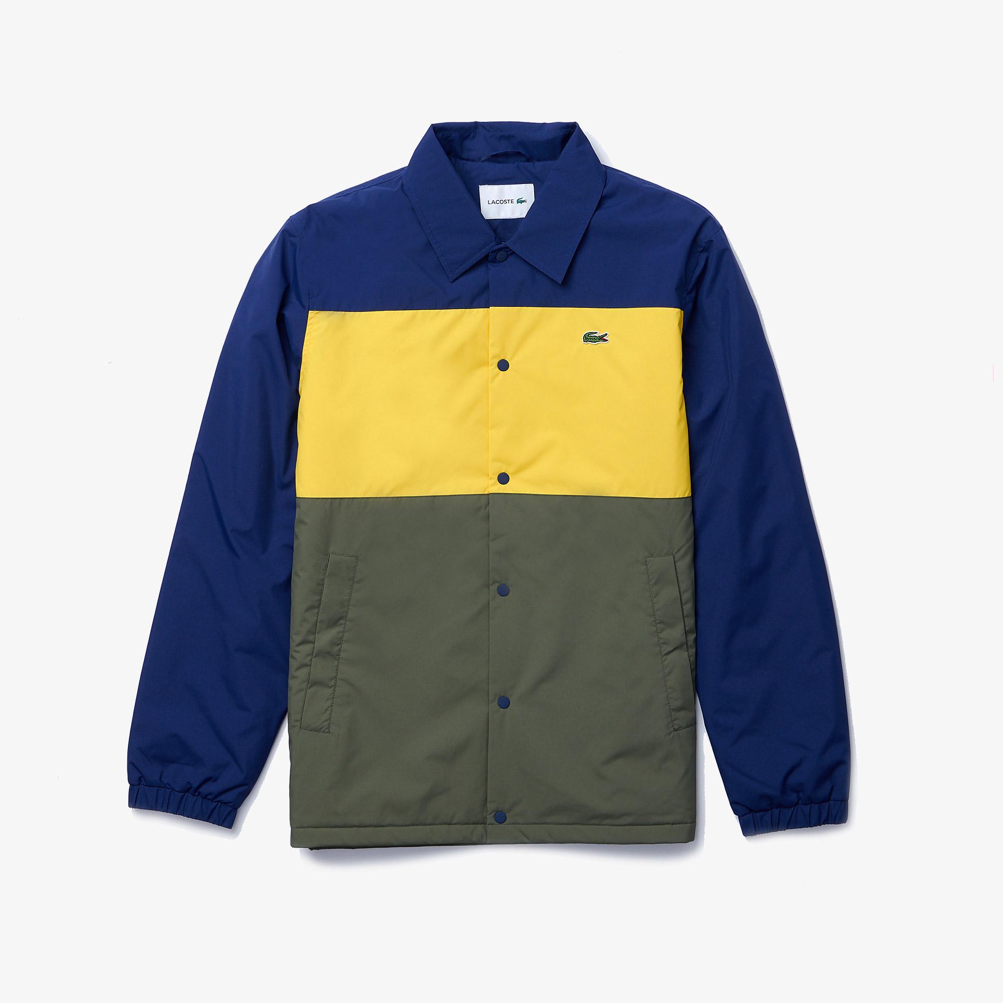 Lacoste Erkek Oversize Renk Bloklu Baskılı Renkli Ceket