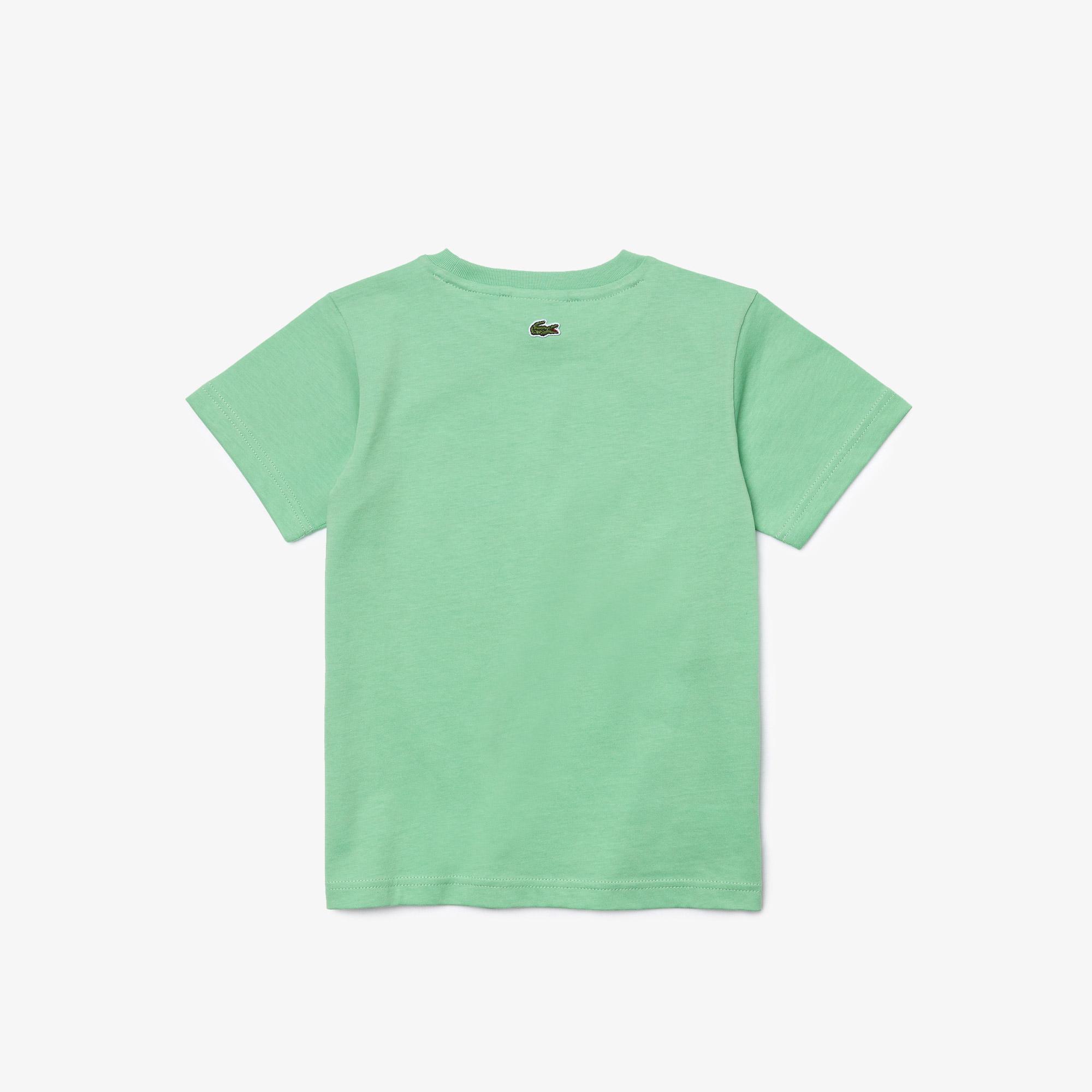 Lacoste Çocuk Bisiklet Yaka Baskılı Yeşil T-Shirt