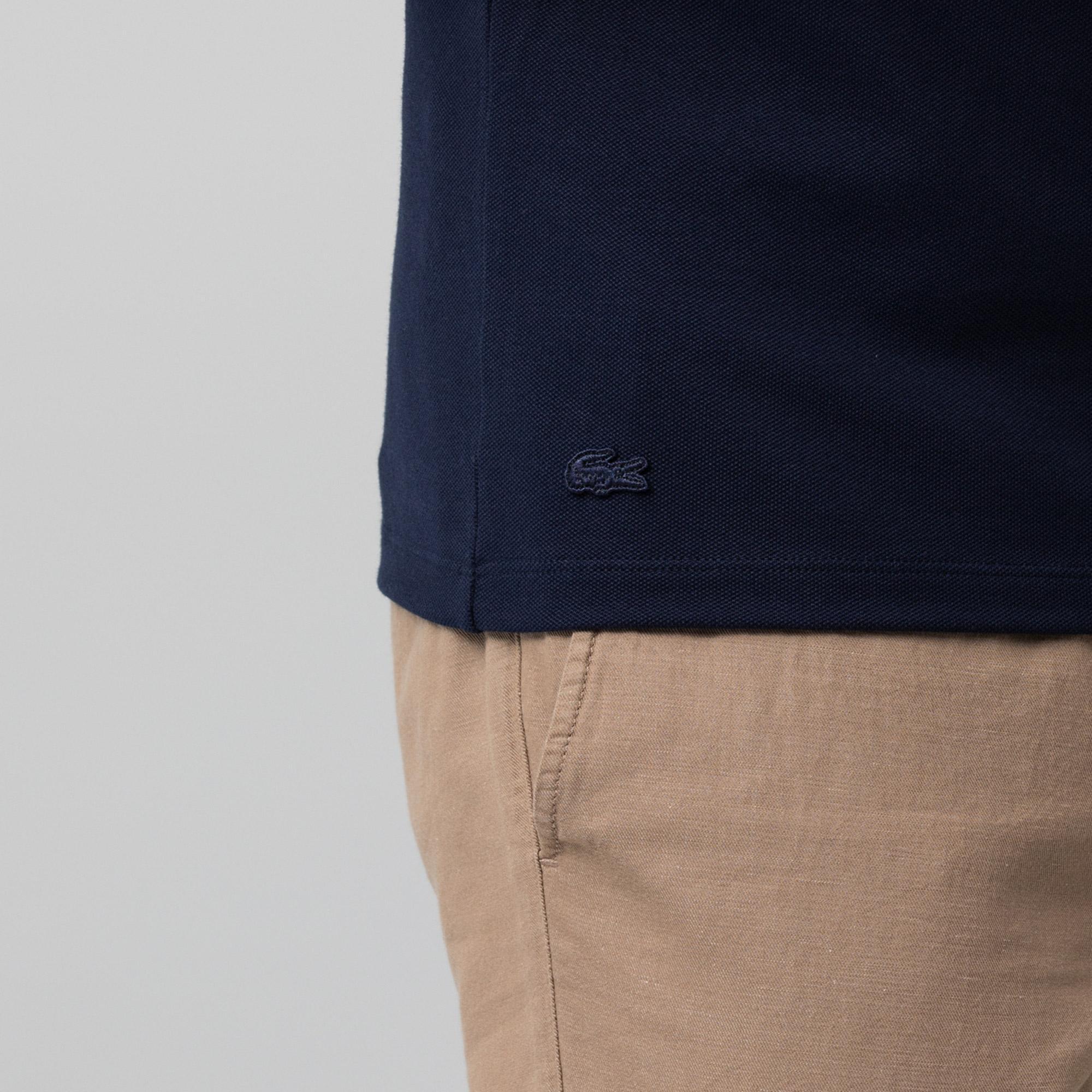 Lacoste Erkek Slim Fit Baskılı Lacivert Polo