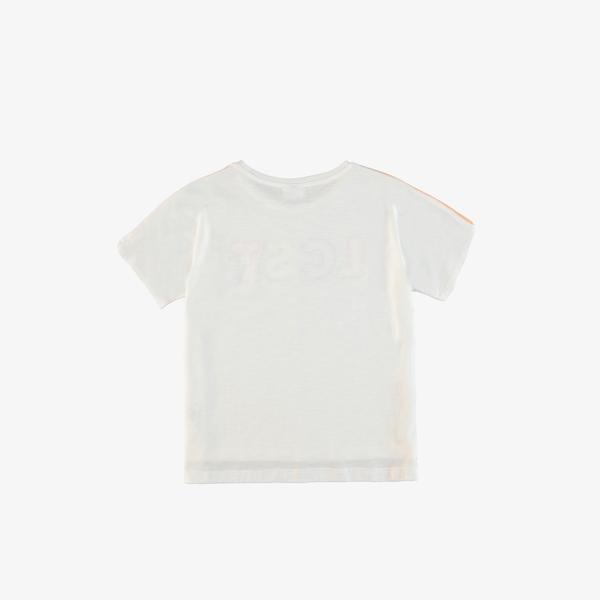 Lacoste Çocuk Bisiklet Yaka Baskılı Nakışlı Beyaz T-Shirt