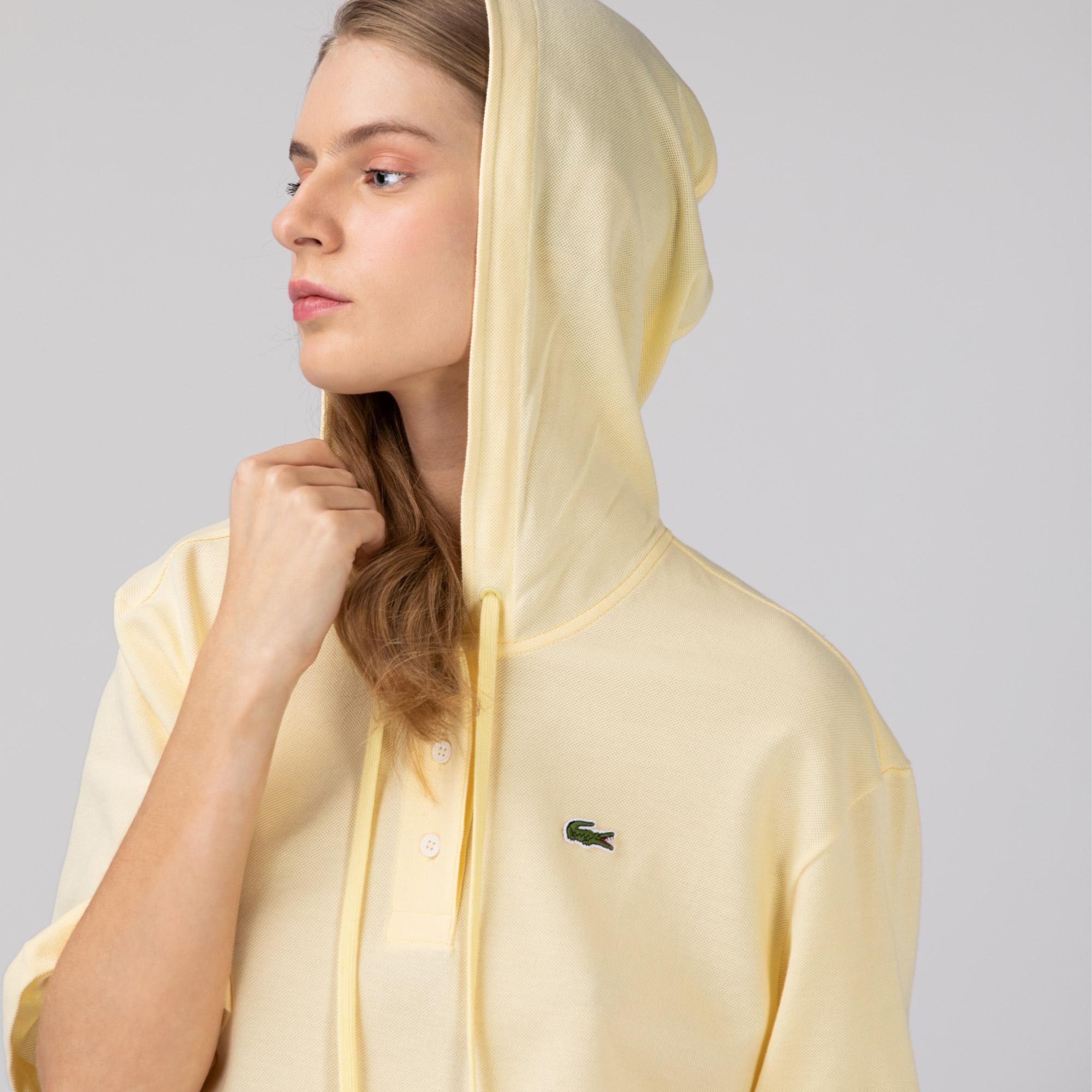 Lacoste Kadın Kapüşonlu Sarı Polo