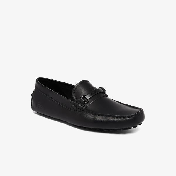 Lacoste Anstead 0921 1 Cma Erkek Deri Siyah Ayakkabı