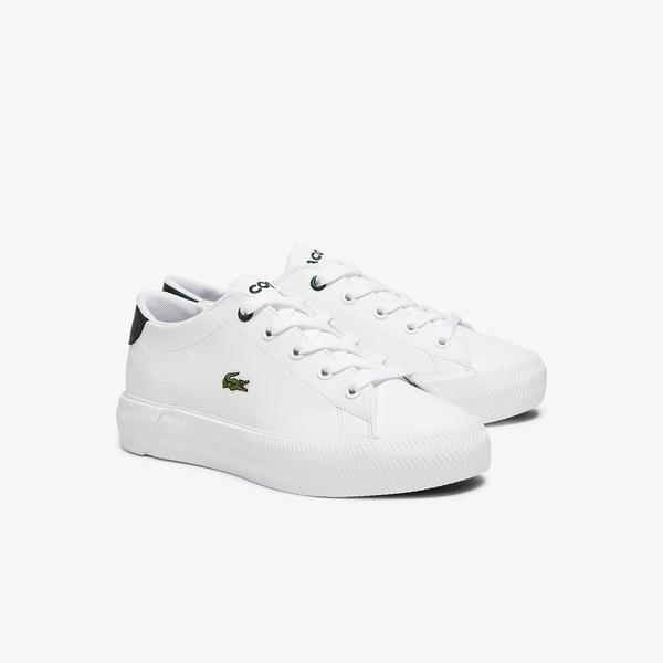 Lacoste Gripshot 0721 1 Cuc Çocuk Beyaz - Koyu Yeşil Sneaker