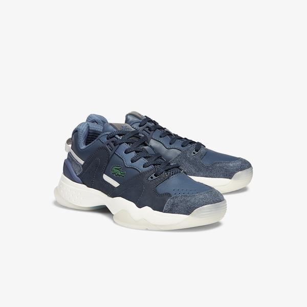Lacoste T-Point 0721 1 G Sfa Kadın Lacivert - Beyaz Sneaker