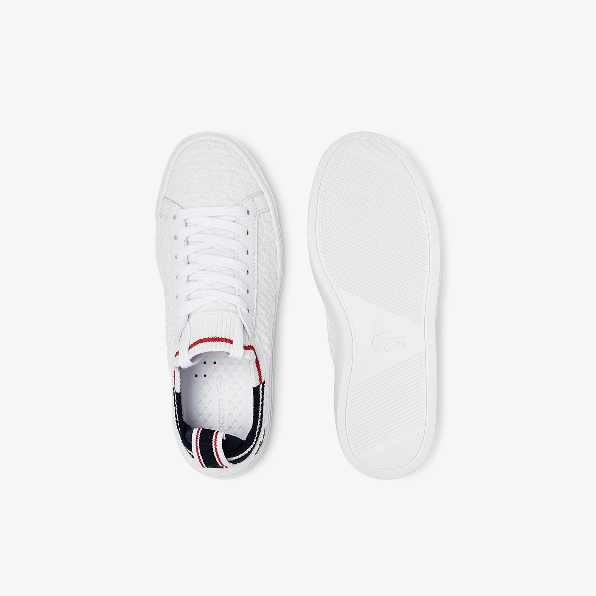 Lacoste La Piquee 0721 1 Cfa Kadın Beyaz - Lacivert - Kırmızı Sneaker