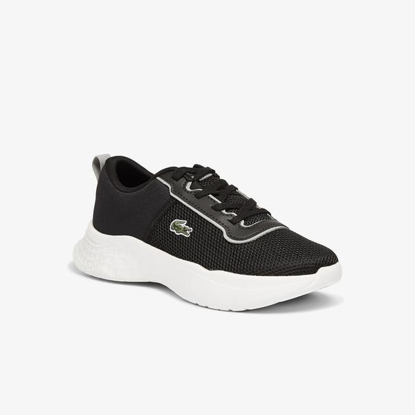 Lacoste Court-Drive 0721 1 Suc Çocuk Deri Siyah - Antrasit Sneaker