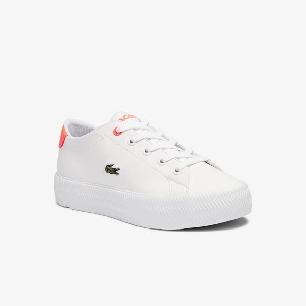 Lacoste Gripshot 0721 1 Cuc Çocuk Beyaz - Pembe Sneaker