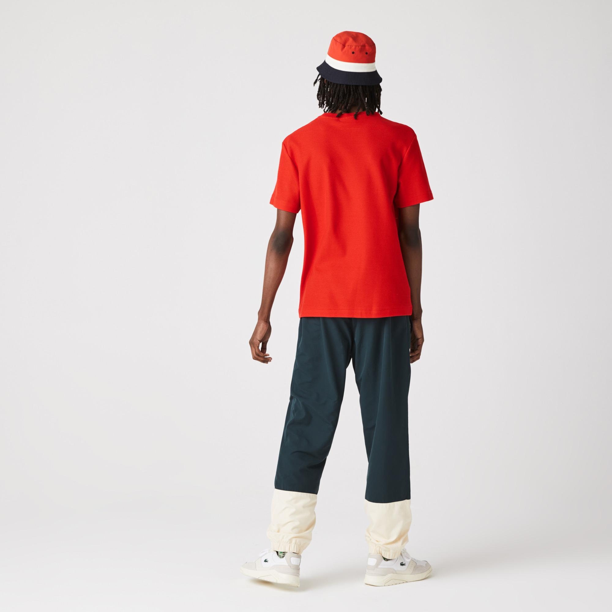 Lacoste Erkek Regular Fit Bisiklet Yaka Çizgili Kırmızı T-Shirt