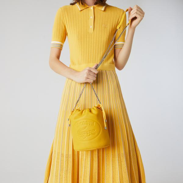 Lacoste Kadın Deri Sarı Çanta