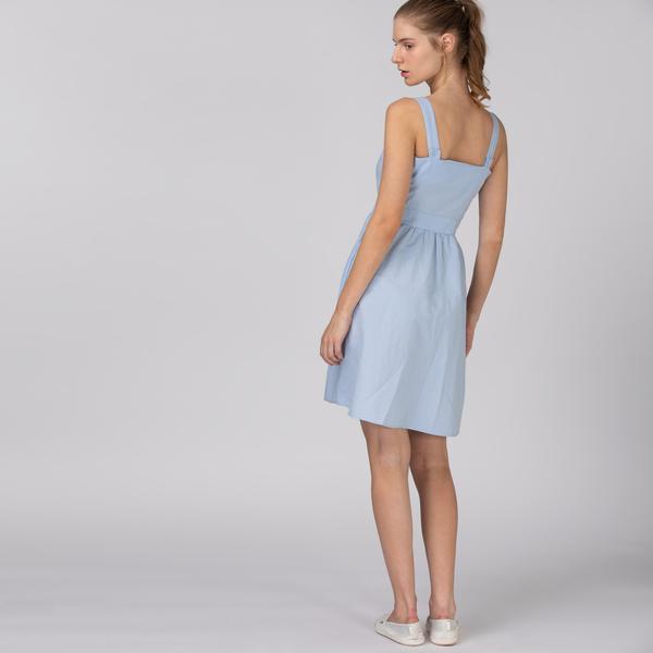 Lacoste Kadın Askılı Açık Mavi Elbise